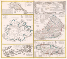 Jamaica, Bermuda and Other Islands Map By Homann Heirs