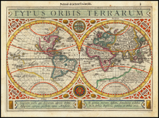 World Map By Henricus Hondius / Jan Jansson