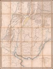 Argentina, Brazil, Paraguay & Bolivia and Uruguay Map By Grégoire Gaspard Félix Coffinières