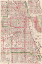 Chicago Map By George F. Cram / Rufus Blanchard