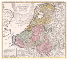Netherlands Map By Homann Heirs