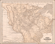 Iowa and Wisconsin  Chiefly from the Map of J.N. Nicollet By Sidney Morse  &  Samuel Breese