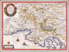 Balkans and Italy Map By Matthaeus Merian