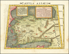 Turkey and Turkey & Asia Minor Map By Sebastian Munster
