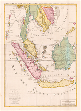 Southeast Asia, Singapore, Indonesia and Malaysia Map By Joshua Ottens