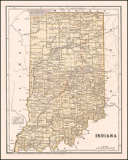 Indiana Map By Sidney Morse  &  Samuel Breese