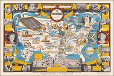 United States and Pictorial Maps Map By Robert Blattner