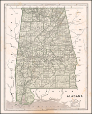 Alabama Map By Sidney Morse  &  Samuel Breese