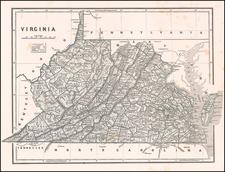 Virginia Map By Sidney Morse  &  Samuel Breese