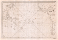 Pacific Ocean, Pacific and Oceania Map By Depot de la Marine