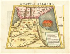 Tabula Asiae III [Black & Caspian Sea Region] By Sebastian Munster