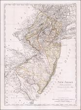 New Jersey Map By Daniel Friedrich Sotzmann