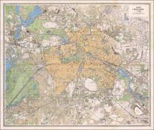 Germany and Russia Map By Leningrad Military Mapping Unit
