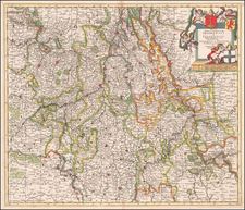 Germany Map By Theodorus I Danckerts