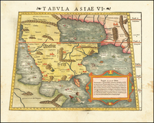 Middle East and Arabian Peninsula Map By Sebastian Munster