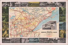 Minnesota and Pictorial Maps Map By Minnesota Arrowhead Association