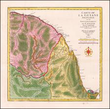 Guianas & Suriname Map By Jean-Baptiste Bourguignon d'Anville