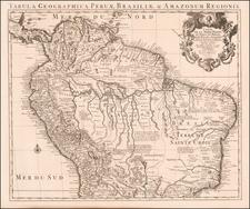 Colombia, Brazil, Guianas & Suriname, Peru & Ecuador and Venezuela Map By Covens & Mortier