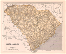 South Carolina Map By Sidney Morse  &  Samuel Breese