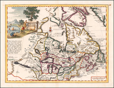Midwest, Canada and Eastern Canada Map By Giambattista Albrizzi