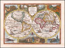 World Map By Jan Everts Cloppenburgh