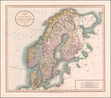 Scandinavia Map By John Cary