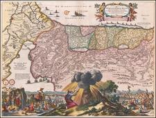 Holy Land Map By Marcus Willemsz Doornick  &  Pieter Keur