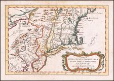 Carta Della Nuova Inghilterra Nuova Yorc, E Pensilvania By Jacques Nicolas Bellin