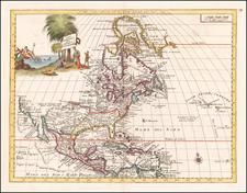 North America Map By Giambattista Albrizzi