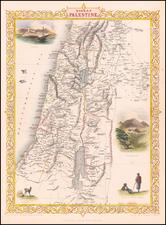 Holy Land Map By John Tallis