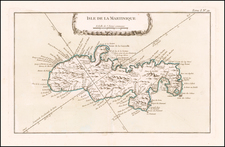 Martinique Map By Jacques Nicolas Bellin