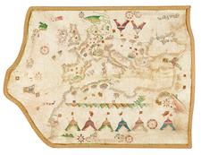 Mediterranean Map By Vesconte Maggiolo