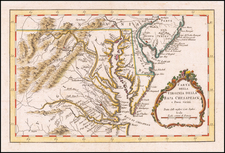 Maryland, Delaware, Southeast and Virginia Map By Gazzetiere Americano