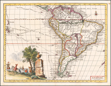South America Map By Giambattista Albrizzi