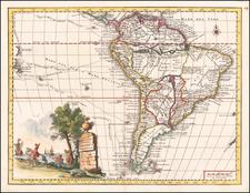 Carta Geografica Della America Meridionale By Giambattista Albrizzi