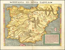 Spain Map By Sebastian Munster