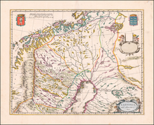 Sweden, Norway and Finland Map By Johannes Blaeu - Abraham Wolfgang