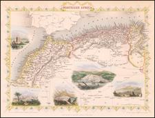 North Africa Map By John Tallis
