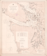 Washington and Canada Map By U.S. Coast & Geodetic Survey