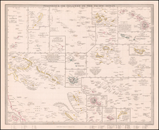 Hawaii, Pacific, Oceania, Hawaii and Other Pacific Islands Map By SDUK
