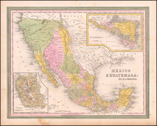Texas, Southwest, Mexico and California Map By Henry Schenk Tanner