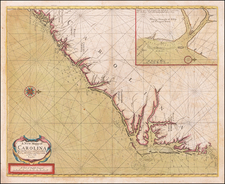 Southeast, North Carolina and South Carolina Map By John Thornton  &  William Fisher