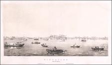 Singapore Map By Charles Joseph Hullmandel / William Collingwood Smith