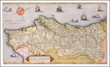 Portugal Map By Gerard de Jode