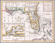Florida and South Map By Gentleman's Magazine