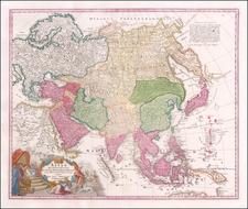 Asia Map By Johann Baptist Homann