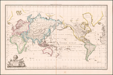 Mappe-Monde sur La Projection De Mercator . . . . By Alexandre Emile Lapie