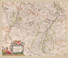 France and Germany Map By Theodorus I Danckerts