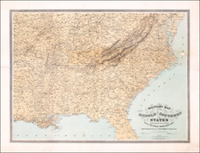 United States, South, Southeast and Midwest Map By J. Schedler
