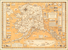 Alaska and Pictorial Maps Map By Ernest Dudley Chase